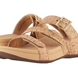 Vionic rio gold cork sandals 10